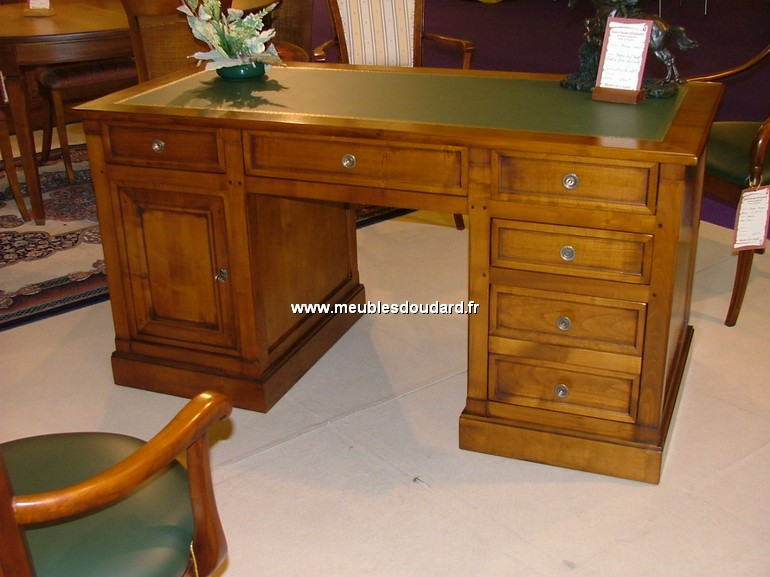 bureau directoire informatique merisier ref del. Black Bedroom Furniture Sets. Home Design Ideas
