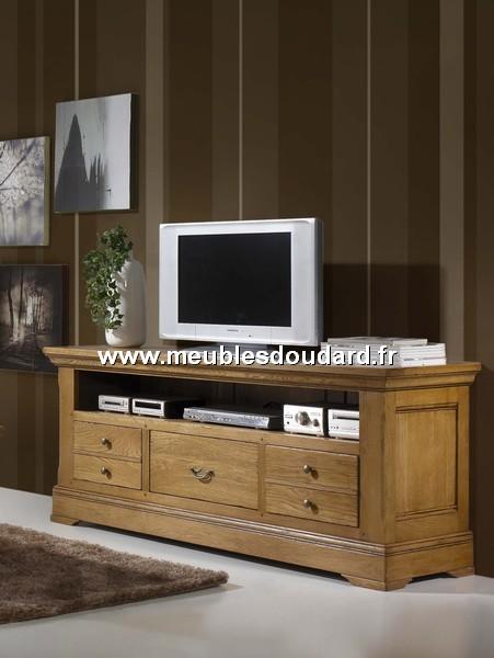 Meuble Tv 3 Tiroirs Ref Benodet En Chene