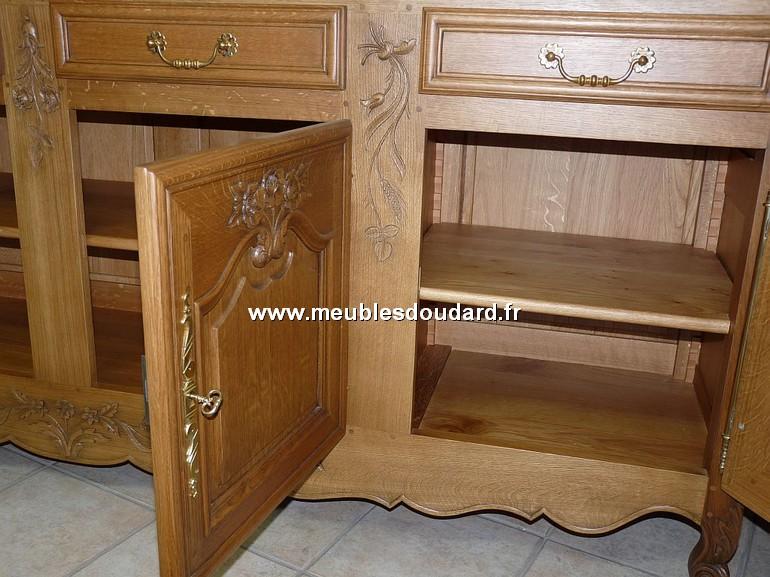 Enfilade 4 portes normande buffet bas en ch ne sculpt for Buffet bas 4 portes