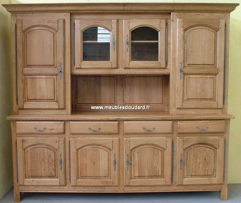 buffet vaisselier 4 portes r f abbaye ch ne. Black Bedroom Furniture Sets. Home Design Ideas