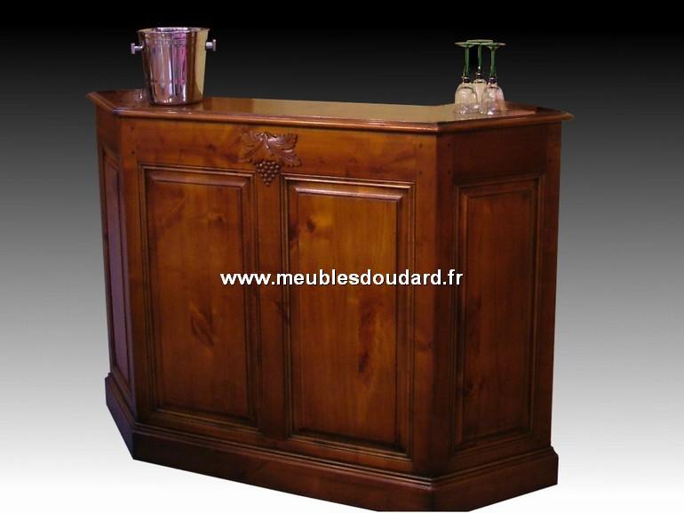 Meuble bar comptoir louis philippe r f des merisier for Comptoir bar meuble
