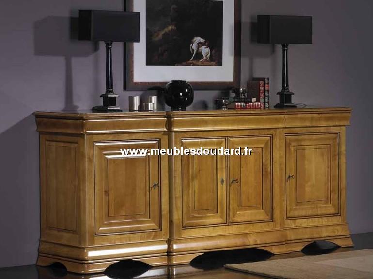 bahut 4 portes corps avanc louis philippe en merisier r f 823 b za. Black Bedroom Furniture Sets. Home Design Ideas