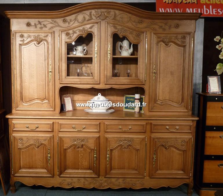 buffet vaisselier en ch ne 4 portes ref rouen. Black Bedroom Furniture Sets. Home Design Ideas