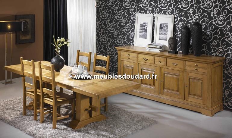 Table rectangulaire pieds poutre ref 140534 en ch ne - Poutre en chene exterieur ...