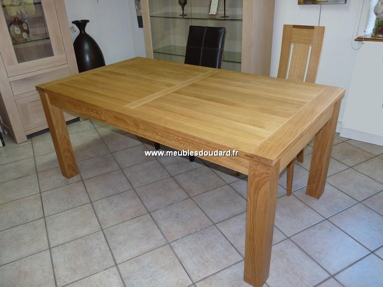 Bien connu Table rectangulaire moderne en bois massif, 2 allonges rangées  NS77