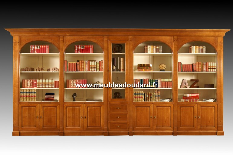 biblioth que en bois massif sur mesure. Black Bedroom Furniture Sets. Home Design Ideas