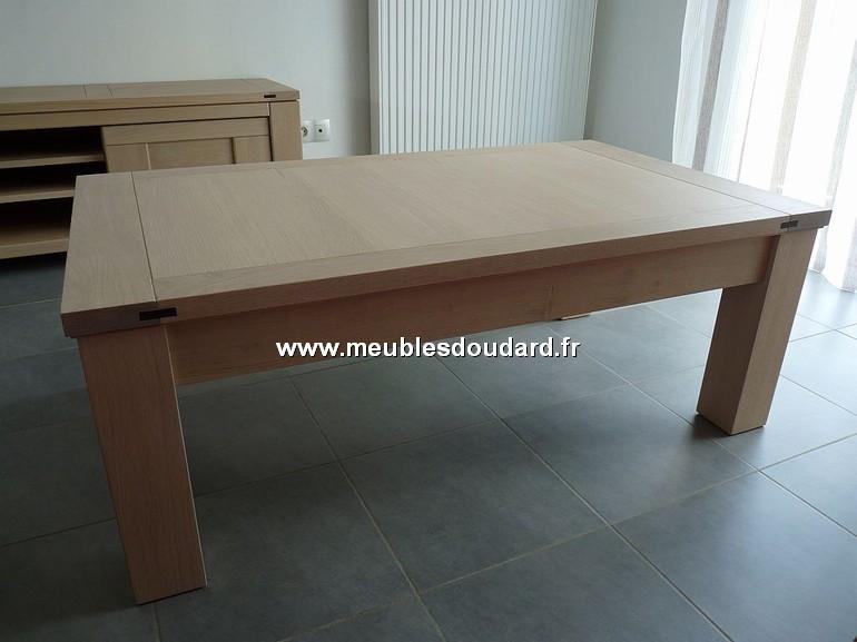 table basse de salon r f dia en ch ne. Black Bedroom Furniture Sets. Home Design Ideas