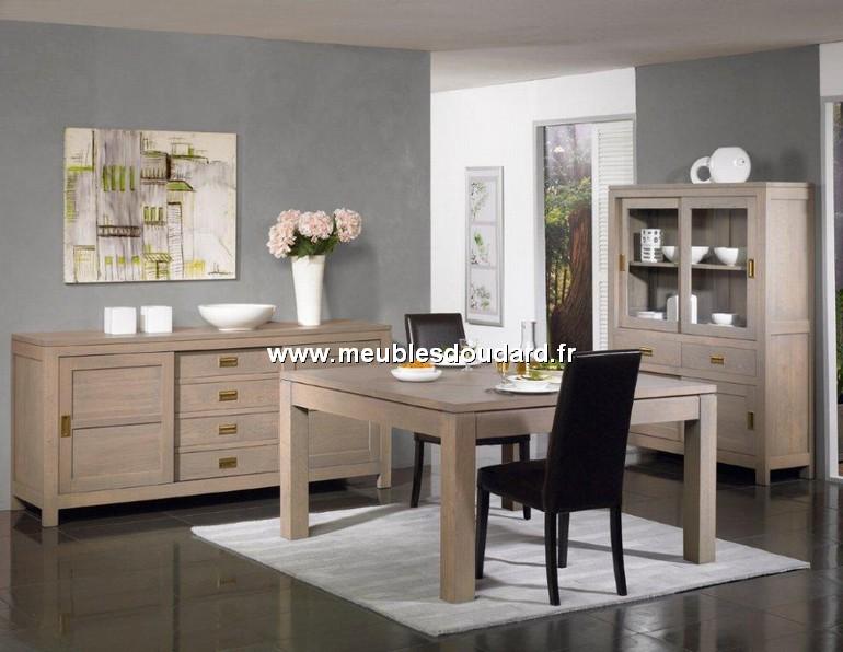salle manger contemporaine ref alaska ch ne blanchi. Black Bedroom Furniture Sets. Home Design Ideas