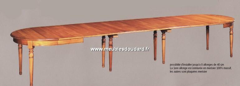 Table ronde de salle manger en merisier louis philippe 2 allonges - Table de salle a manger ovale avec rallonge ...
