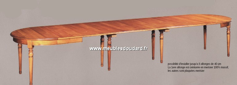 Table ronde de salle manger en merisier louis philippe 2 - Table de salle a manger ronde avec rallonge ...
