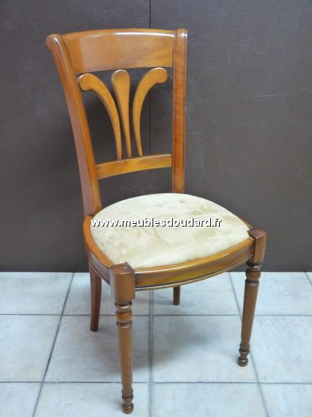Chaise louis philippe merisier ref daoulas 665 36 assise tissu - Chaise merisier louis philippe ...
