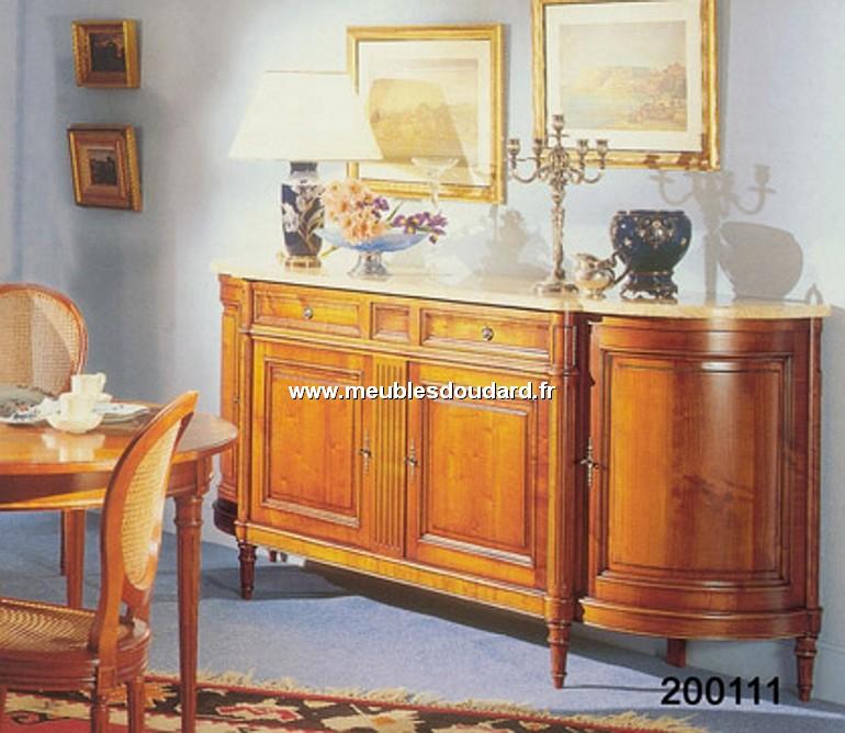 buffet 4 portes demi lune lxvi merisier ref 200111. Black Bedroom Furniture Sets. Home Design Ideas