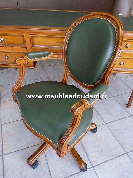 fauteuil de bureau louis xvi basculant merisier. Black Bedroom Furniture Sets. Home Design Ideas