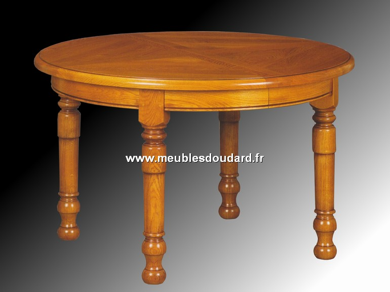Table de salle a manger ronde en ch ne louis xiii for Table ronde en chene