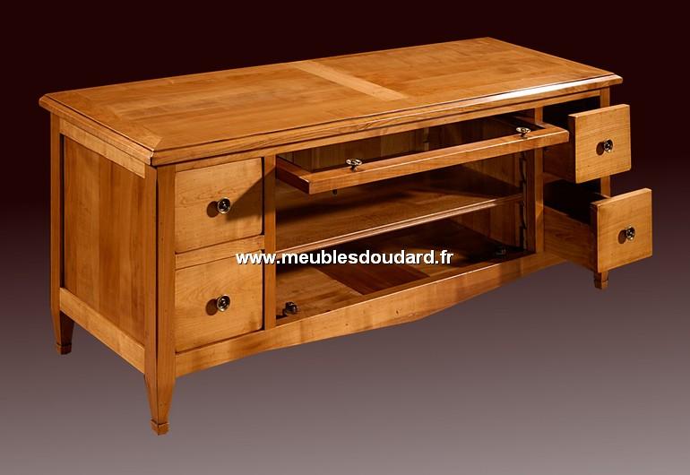 Meuble tv merisier affordable meuble tv style louis for Meuble tv merisier