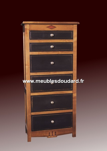 meuble range cd dvd 5 tiroirs ref go 0045. Black Bedroom Furniture Sets. Home Design Ideas