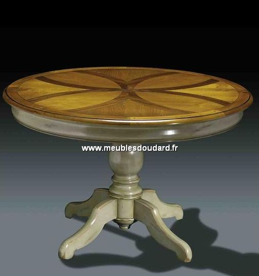 Table Ronde Pied Central Ref Dh 28 Merisier